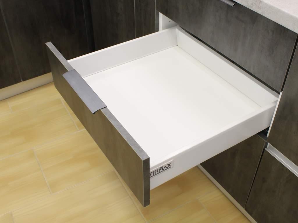 Кухня прямая ТБМ Люкс «Кристи» (3.6 м, черный/серый) Изображение 2
