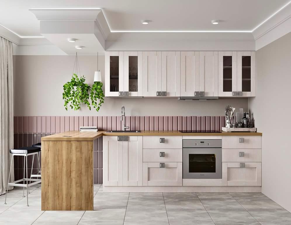 Кухня прямая ТБМ Люкс «Виктория» (2.4 м, белый) Изображение 2