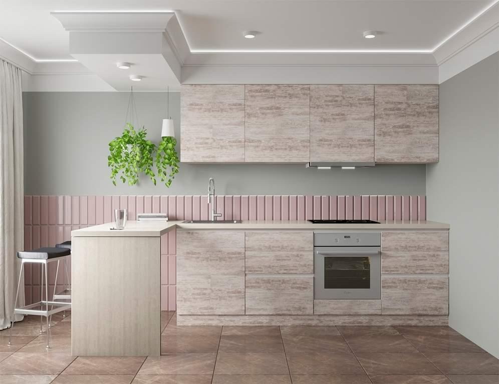 Кухня прямая, Alvic/SYNCRON матовый, бежевый Изображение