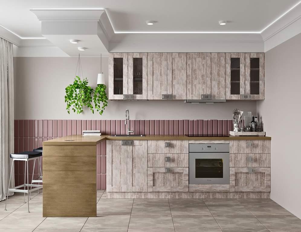 Кухня прямая ТБМ Люкс «Виктория» (2.4 м, дымчато-серый) Изображение 2