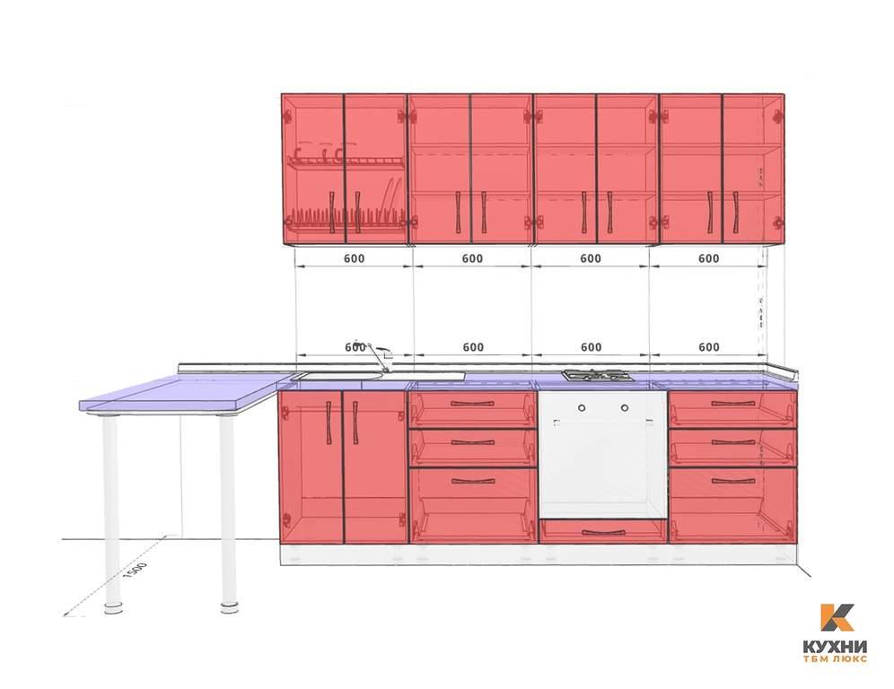 Кухня прямая, Alvic/SYNCRON матовый, серый графит Изображение 2