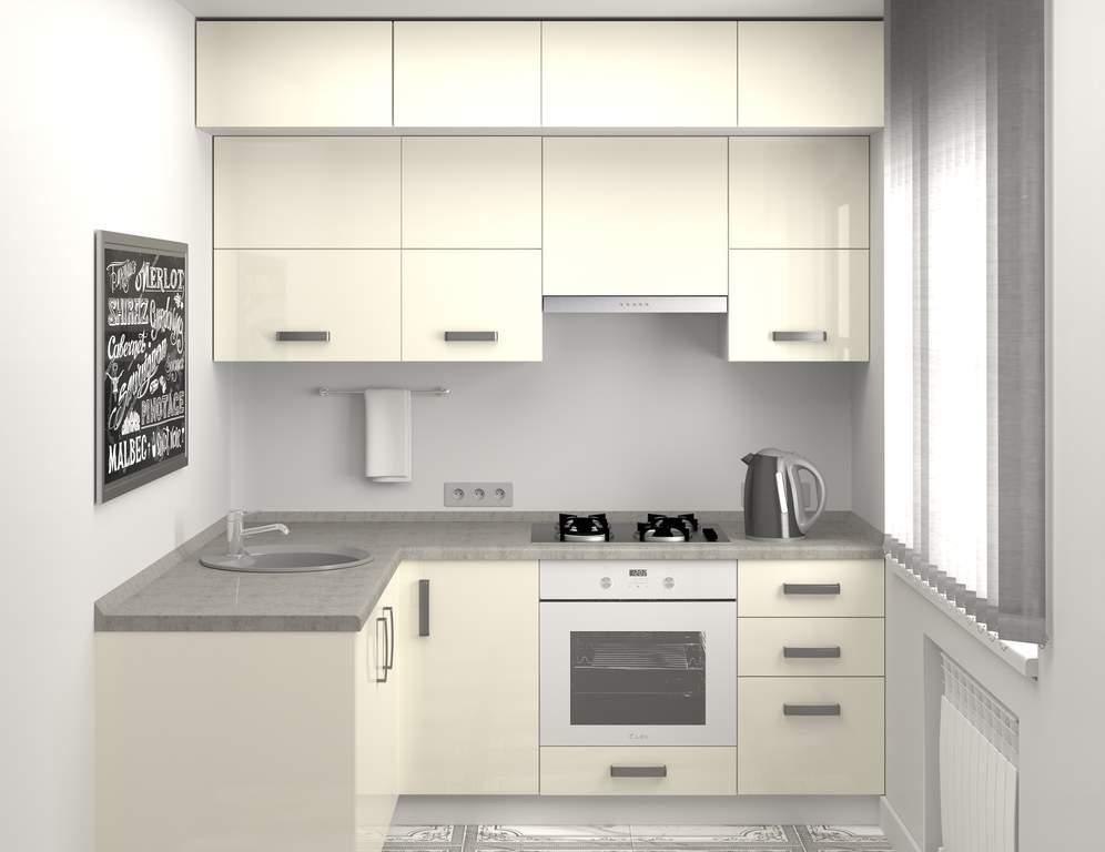 Кухня угловая, AGT глянец, белый Изображение