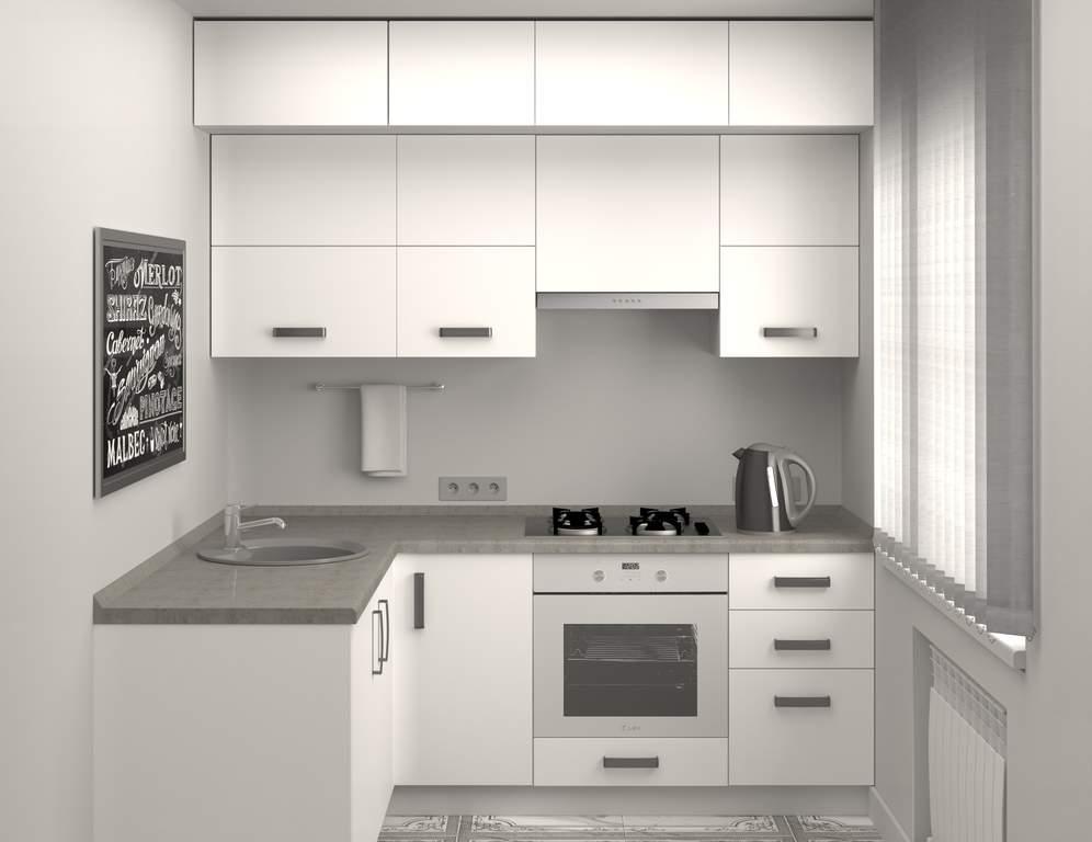 Кухня угловая, AGT матовый, белый Изображение