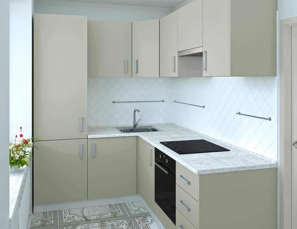 Кухня угловая, AGT матовый, серый Изображение
