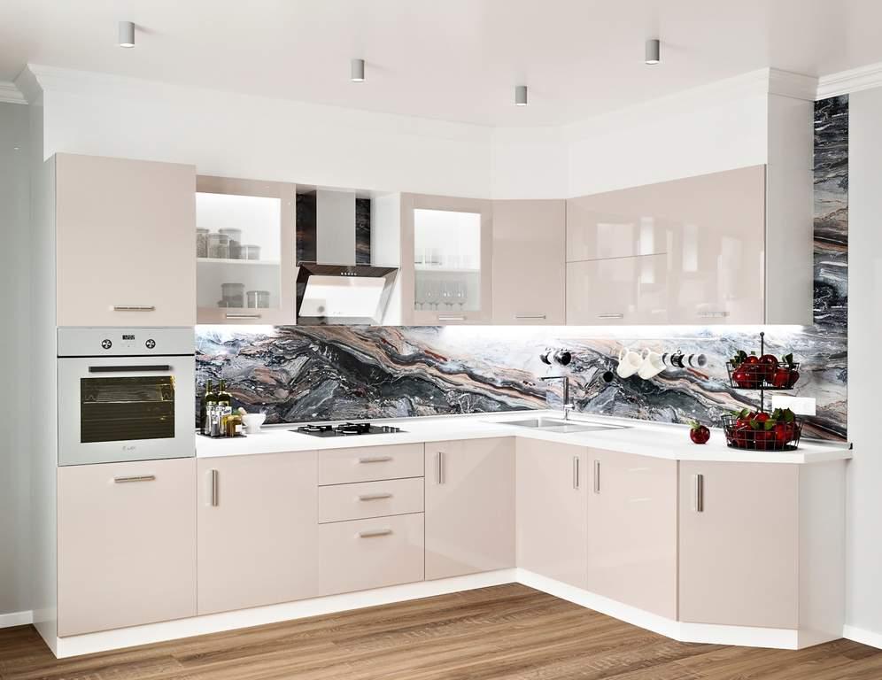 Кухня угловая, Alvic глянец, кашемир Изображение