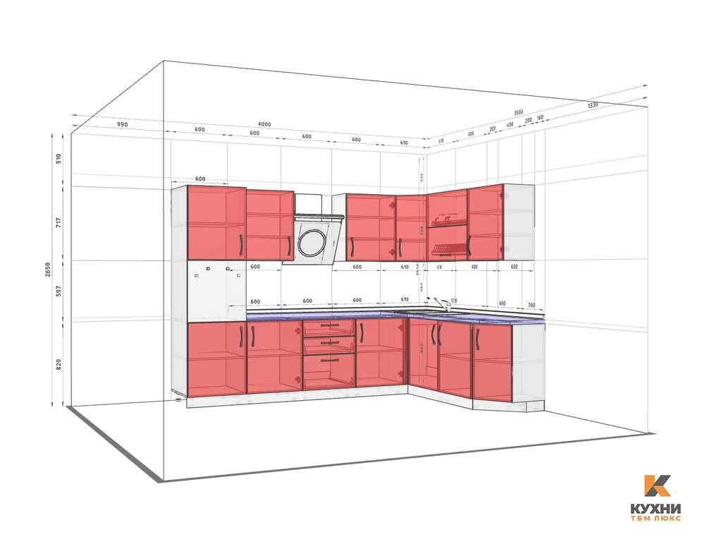 Кухня угловая, Alvic глянец, кашемир Изображение 2