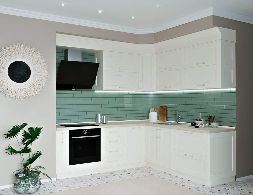 Кухня угловая, Alvic матовый, белый Изображение