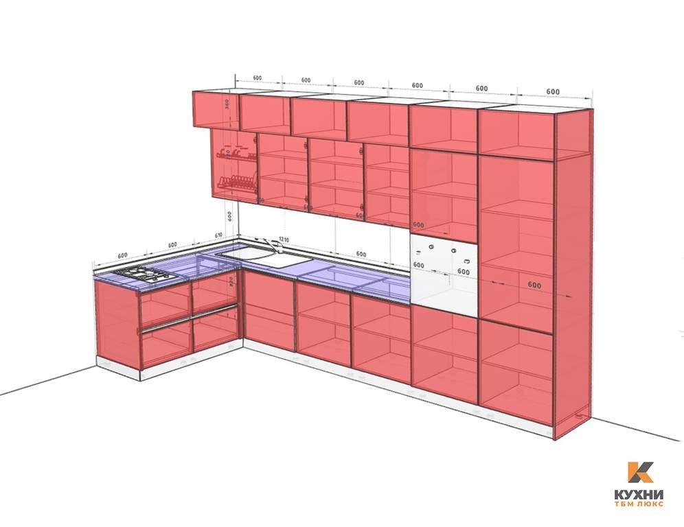 Кухня угловая, Модерн AGT матовый белый/коричневый Изображение 2