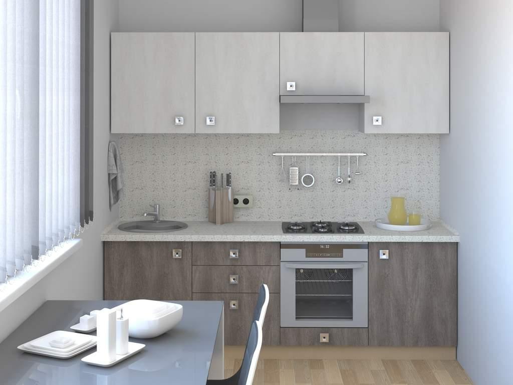 Кухня прямая ТБМ Люкс «Ванесса» (2.4 м, бежевый/кофейный) Изображение 2