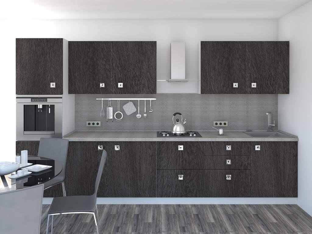 Кухня прямая ТБМ Люкс «Моника» (3.6 м, антрацит) Изображение 2