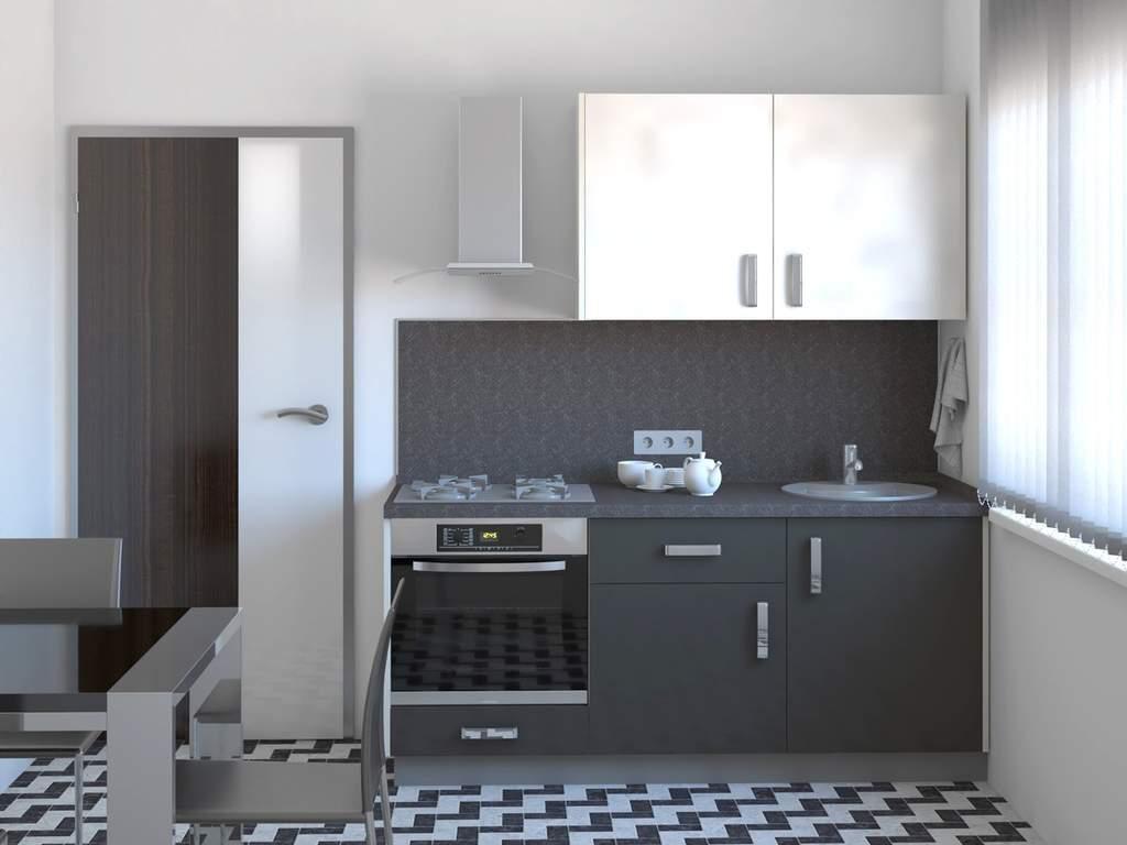 Кухня прямая ТБМ Люкс «Николь» (1.8 м, белый/графит) Изображение 2