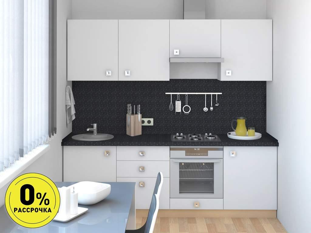 Кухня прямая ТБМ Люкс «Ванесса» (2.4 м, белый) Изображение