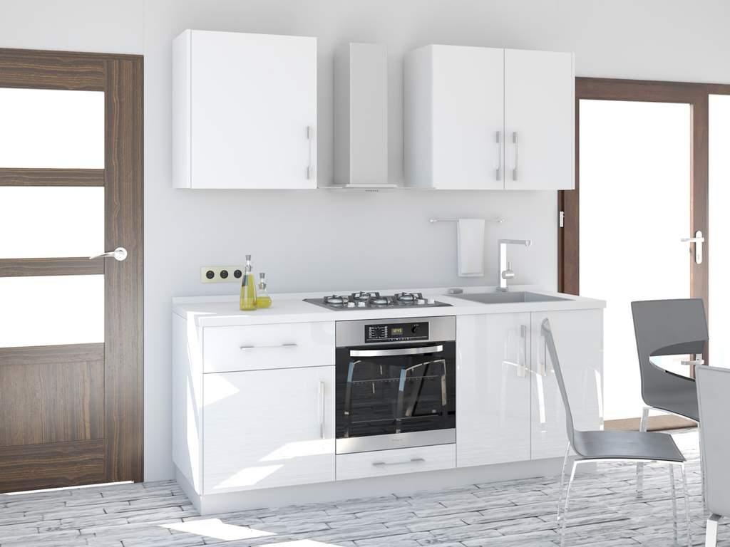 Кухня прямая ТБМ Люкс «Пенелопа» (1.8 м, белый) Изображение 2