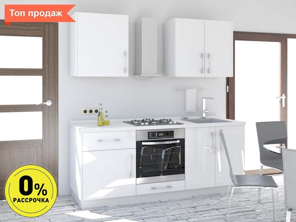 Кухня прямая ТБМ Люкс «Пенелопа» (1.8 м, белый) Изображение