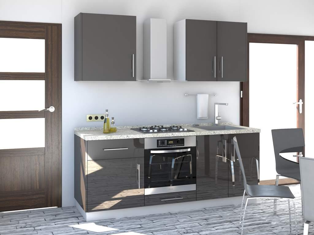 Кухня прямая ТБМ Люкс «Пенелопа» (1.8 м, антрацит) Изображение 2