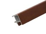 Соединитель 90° цоколя ПВХ, вишня темная 66 см FIRMAX