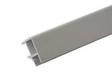 Соединитель 90° цоколя ПВХ, алюминий рифленый 66 cм FIRMAX
