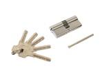 Цилиндр профильный ELEMENTIS 35(ключ)/35(ключ) ЦАМ, 5 перфорированных ключей, никелированный