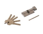 Цилиндр профильный ELEMENTIS 35(ключ)/35(ручка) ЦАМ, 5 перфорированных ключей, никелированный