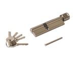 Цилиндр профильный ELEMENTIS  45(ключ)/60(ручка D), никелированный