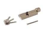 Цилиндр профильный с ручкой ELEMENTIS 40(ключ)/55(ручка), никелированный
