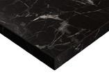 Фасад мебельный МДФ ALVIC суперматовый черный мрамор (Oriental Black Supermat ZENIT)