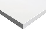 Фасад мебельный МДФ глянцевый белый полар (Blanco Polar) ALVIC