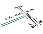Комплект Антипаники на 2-створчатую дверь, 2+2 точки запирания, 1150мм, зеленый