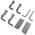 Комплект соединителей и торцевых заглушек Г-образного профиля FRM9200 Gola FIRMAX(8частей), пластик, серый