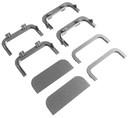 Комплект соединителей и торцевых заглушек П-образного профиля FRM9201 Gola FIRMAX(8частей), пластик, серый