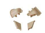 Комплект соединителей овального пристеночного бортика (2 заглушки, 90° внутренний, 90° внешний) пластик, песчаный