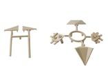 Комплект соединителей треугольного пристеночного бортика ALPHALUX (6 частей), пластик, бежевый
