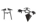 Комплект соединителей треугольного пристеночного бортика ALPHALUX (6 частей), пластик, черный