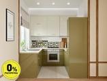 Кухня П-образняа ТБМ Люкс «Хелена» (2.2x2.2x2.2 м, бежевый/кремовый)