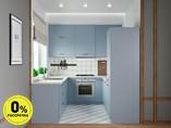 Кухня П-образняа ТБМ Люкс «Хелена» (2.2x2.2x2.2 м, голубой)
