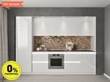 Кухня прямая ТБМ Люкс «Эмилия» (3.0 м, белый)