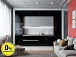 Кухня прямая ТБМ Люкс «Кристи» (3.6 м, черный/серый)