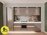 Кухня прямая ТБМ Люкс «Эмилия» (3.0 м, коричневый)