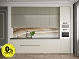 Кухня прямая ТБМ Люкс «Мелани» (3.6 м, бежевый/белый)