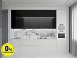 Кухня прямая ТБМ Люкс «Мелани» (3.6 м, черный/белый)