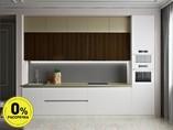 Кухня прямая ТБМ Люкс «Мелани» (3.6 м, белый/бежевый/древесный)