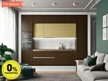 Кухня прямая ТБМ Люкс «Кристи» (3.6 м, коричневый/желтый)