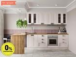 Кухня прямая ТБМ Люкс «Виктория» (2.4 м, белый)