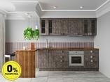 Кухня прямая ТБМ Люкс «Виктория» (2.4 м, серый графит)