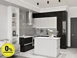 Кухня с островом ТБМ Люкс «Джульетта» (2.2x2.4x1.2x0.6 м, белый/черный)