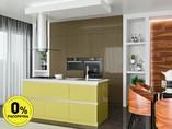 Кухня с островом ТБМ Люкс «Саманта» (2.4x2.1 м, бежевый/светло-желтый)