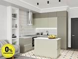 Кухня с островом ТБМ Люкс «Джульетта» (2.2x2.4x1.2x0.6 м, серый/серый камень)