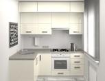 Кухня угловая, AGT глянец, белый