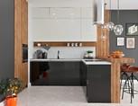 Кухня угловая, AGT глянец, черный/белый