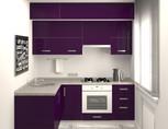 Кухня угловая, AGT глянец, фиолетовый